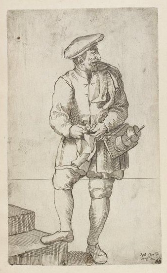 The-Stocking-Knitter-by-Annibale-Carracci